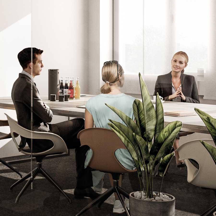 Hochwertige Austattung der Büroflächen